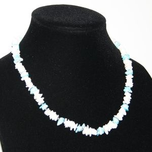 White and Blue Shell necklace